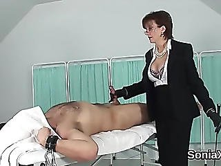Unfaithful British Older Lady Sonia Pops Out Her Biggest Boobies