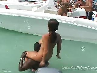 bateau, pied, fête, publique, réalité, Ados