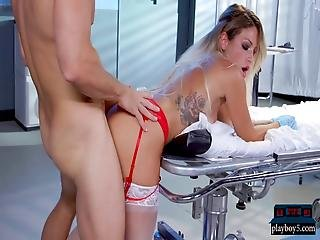 Nervous Doctor Fucks Delicious Milf Nurse Kissa Sins
