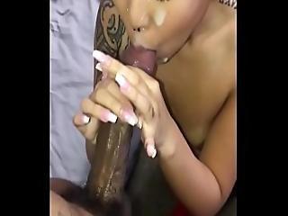 Jayla Sucks Bbc And Gets Cum Shower