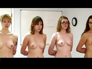 Four Girls Stripped Quizzed And Strapped Full Edit