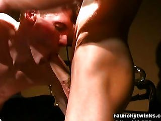 Horny College Hunks Exchange Hot Blowjobs
