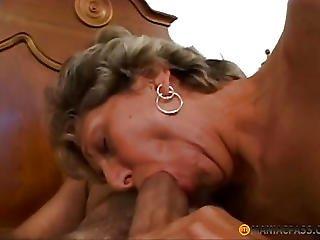 Mature Aunt Sucks Big Dick
