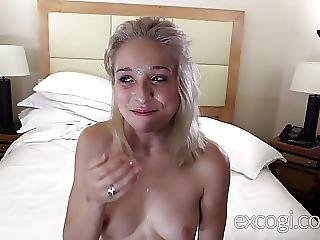Cutest Blonde Amateur Surprised By Real Orgasms