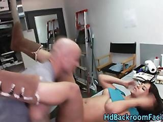 Casting Babe Gets Tongued