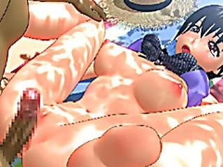 Swimsuit 3d Anime Hot Fucking In The Beach