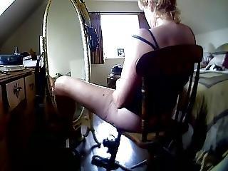 Amatorski, Ukryta Kamera, Masturbacja, Lustro, Orgazm, żona