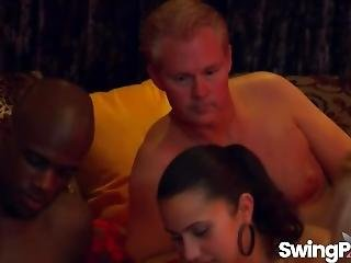 Lucky Babe Gets Massage In Swinger Reality Show