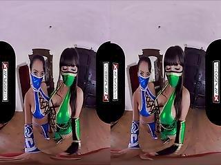Vrcosplayx Threesome With Jade And Kitana