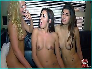 Girls Gone Wild - A 3 Way Lesbian Fantasy Cums True
