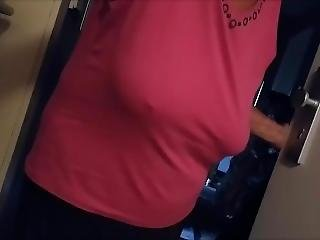 Braless Granny With Saggy Boobs.