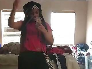 Hot Ebony Teen Dancing Her Ass Off