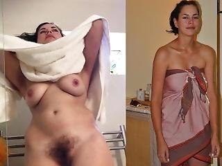 Gorgeous Brunette Washing Her Hairy Pussy On Hidden Cam