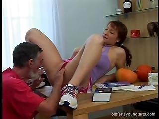 Grandpa Fucks Busty Redhead Schoolgirl