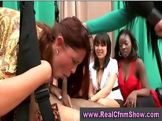 Cfnm Brunette Does 69 With Guy In Harness