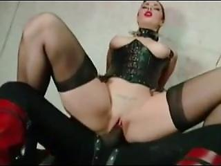 White Woman In Black Leather Get Masked Bbc.