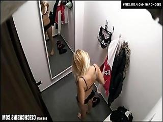 Young Blonde Girl Cought On Security Camera