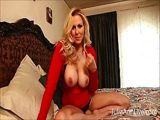 Busty Milf Julia Ann Teases Stepson With Big Tits