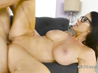Huge Boobs Milf Fingered And Fucked