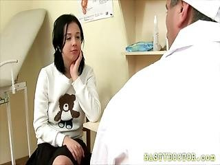 Teen Patient Gets Fucked By An Old Russian Doctor Who Cums On Her Nice Tits At The End