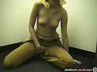 Petite Teen Stuck In Elevator Masturbating