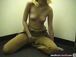 Petite Teen Stuck In Elevator Masturbating