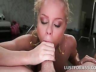 Blonde And Brunette Nailed Hard In Big Ass 4some