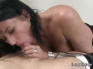 Busty Mature Lady Deep Throats