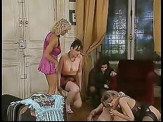 フェラチオ, 精液をショット, 乱交, ドイツ人, リバース乱交, ビンテージ