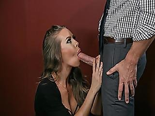 Johnny Sins Thick Cock Suck By His Office Boss So Good