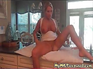 My Milf Exposed My Wife Riding Toy On Kitchen Table