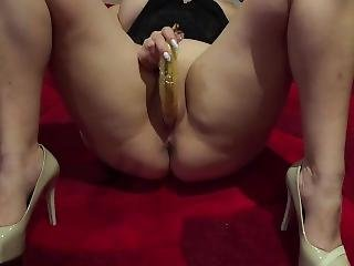 Caught Wife Fucking Her Horny Pussy With A Banana