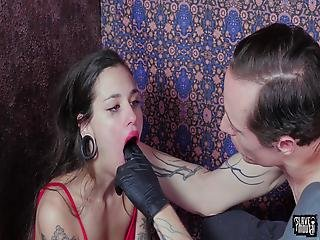 90-pound Submissive Gets Face Fucked