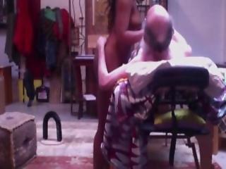 Old Man Fucks Sexy Black Escort