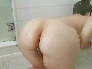 Jiggly Ass Wife Taking A Shower