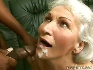 Grandma Norma Tries A Big, Black Cock.