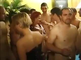 stortuttad, blondin, avsugning, cumshot, fetish, tysk, mogen, orgie