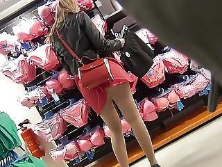Nylon Street Legs And Hot Upskirt