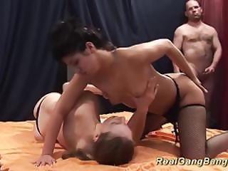 Real German Gangbang Orgy