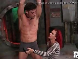 Beautiful Red Head Ariel Kay Dominates Men