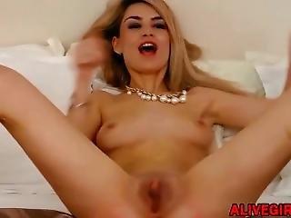 amateur, blonde, Université, masturbation, rose, chatte, maigre, Ados