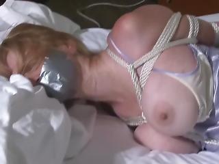 Bondage Milf Enjoying Herself