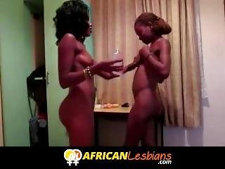 African Sisters In Lesbian Amateur Video