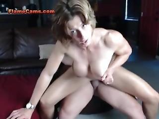 Goddess Rapture Busty Muscle Babe