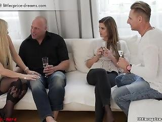 Swinger Foursome Hardcore Party With 2 Tiny Teens