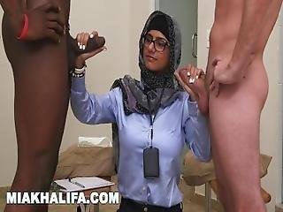 Mia Khalifa   Your Favorite Arab Pornstar Milking Two Cocks Just For Fun