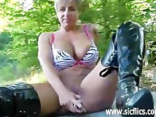 Extreme Slut Fisted In A Public Park