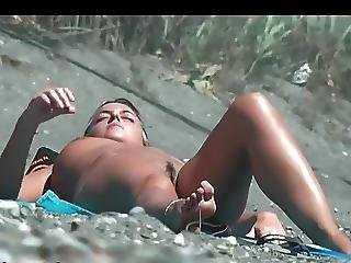 Beach Voyeur Naked Girl At Beach Sunbathing 2