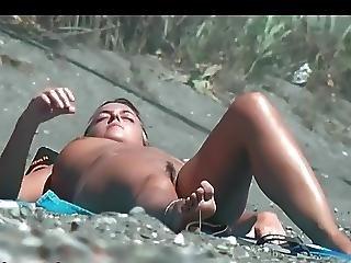Beach Voyeur Naked Girl At Beach Sunbathing 2
