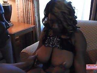 Thick Ebony Brat Gets Her Ass Beat